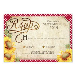 Girassóis e cartão de Picinic RSVP do país do galo Convites Personalizado