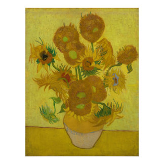 Girassóis pelo poster de Vincent van Gogh