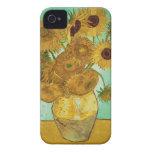 Girassóis por Vincent van Gogh Capa Para iPhone 4 Case-Mate