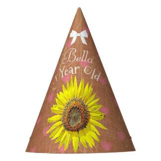 Girassol amarelo de Brown do chapéu da festa de