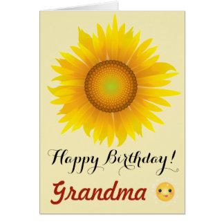 Girassol - avó do feliz aniversario! cartão
