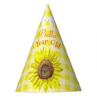 Girassol do amarelo do rosa do chapéu da festa de
