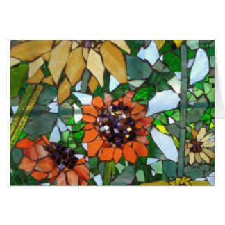 Girassol do mosaico cartão comemorativo
