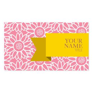Girassol dourado do sorvete do rosa da fita cartão de visita