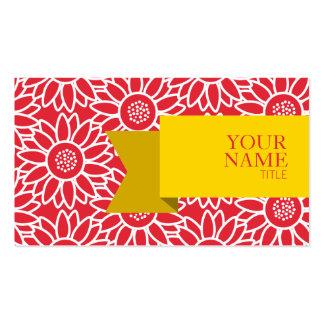 Girassol dourado dos carmesins de alizarina da cartão de visita