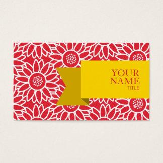 Girassol dourado dos carmesins de alizarina da cartão de visitas