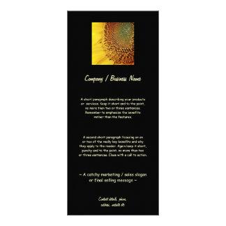 Girassol fresco e dourado 10.16 x 22.86cm panfleto