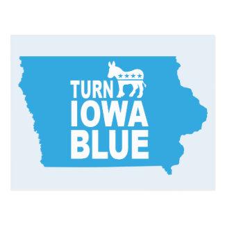 Gire o estado azul Democrata do voto do cartão | Cartão Postal