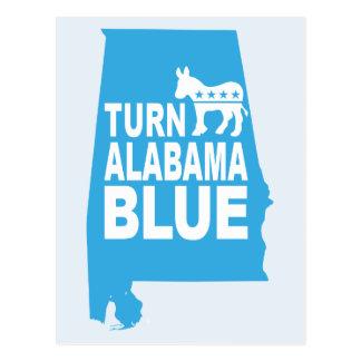 Gire o estado azul Democratas do voto do cartão | Cartão Postal