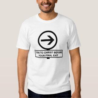 Gire para o t-shirt do cristo