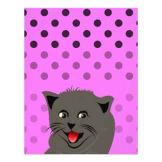 Girl_pink_desing dot_baby de Cat_polka Papel De Carta