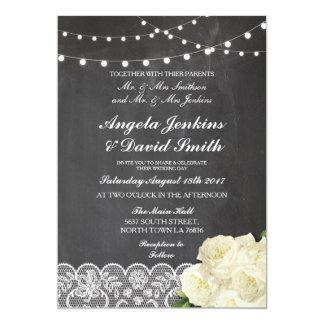 Giz do laço que Wedding convites claros