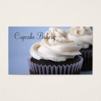 Glacé da baunilha dos cupcakes do chocolate cartão de visitas