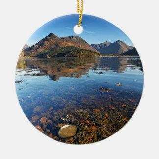 Glencoe e Ballachulish, Scotland Ornamento De Cerâmica Redondo