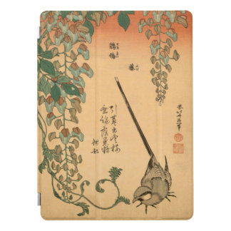 Glicínias do vintage de Hokusai e arte de Capa Para iPad Pro