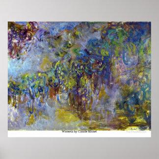 Glicínias por Claude Monet Posters
