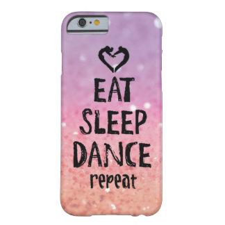 Glittery coma, durma, dance o caso capa barely there para iPhone 6