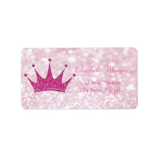 Glittery cor-de-rosa feminino elegante, Bokeh, Etiqueta De Endereço