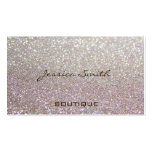 Glittery elegante glamoroso profissional modelo cartões de visitas