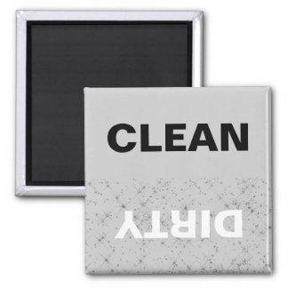 Glittery limpe/máquina de lavar louça sujo ímã quadrado