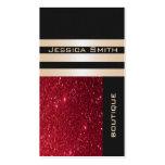 Glittery vermelho contemporâneo luxuoso chique ele cartao de visita