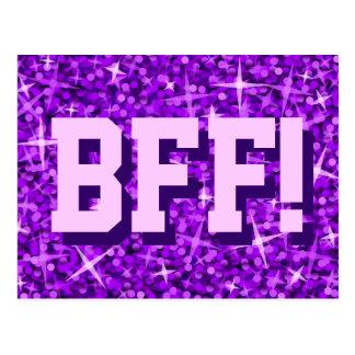 """Glitz """"BFF roxos!"""" cartão"""
