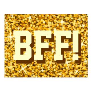 """Glitz """"ouro"""" """"BFF!"""" cartão"""