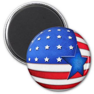 Globo da bandeira 3d dos EUA Imãs
