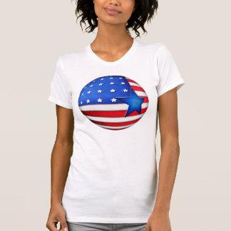 Globo da bandeira 3d dos EUA