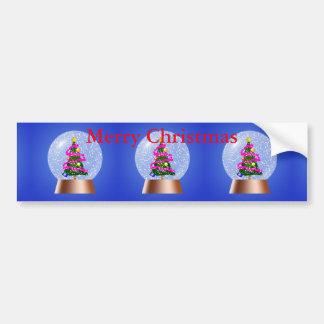 Globo da neve da árvore de Natal Adesivo Para Carro