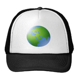 Globo da terra do planeta boné