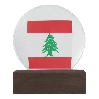 Globo De Neve Bandeira de Líbano