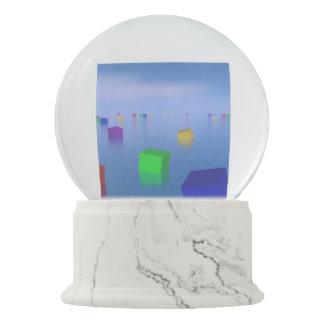 Globo De Neve Cubos coloridos que flutuam - 3D rendem