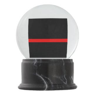Globo De Neve Linha vermelha fina memorial simbólico em a