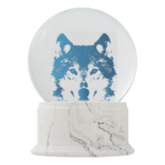 Globo De Neve Lobo do azul de gelo da ilustração
