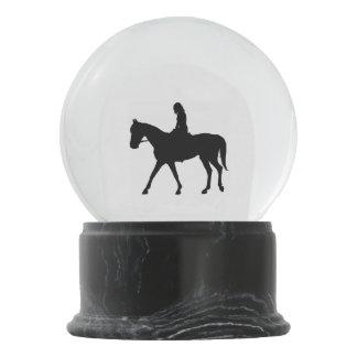 Globo De Neve Menina no cavalo