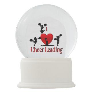 Globo De Neve Mim Cheerleading do coração