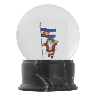 Globo De Neve Papai Noel patriótico que visita Colorado