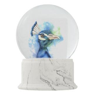 Globo De Neve Pintura da aguarela do pavão