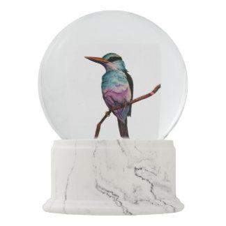 Globo De Neve Pintura do pássaro da cor do algodão doce