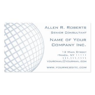 Globo global das cinzas azuis do consultor empresa modelos cartões de visitas
