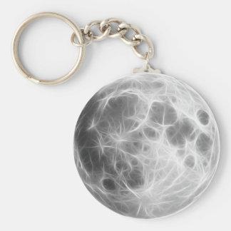 Globo lunar do planeta da Lua cheia Chaveiro