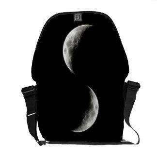 Globo lunar do planeta da lua de um quarto bolsa mensageiro