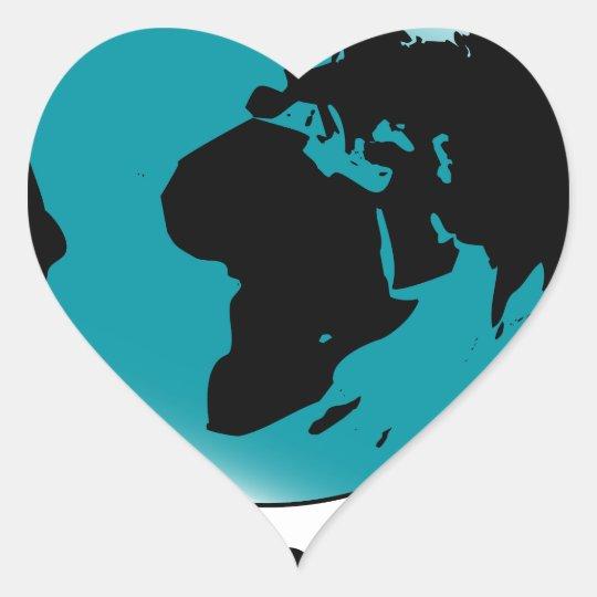Globo montado no giro de giro adesivo coração