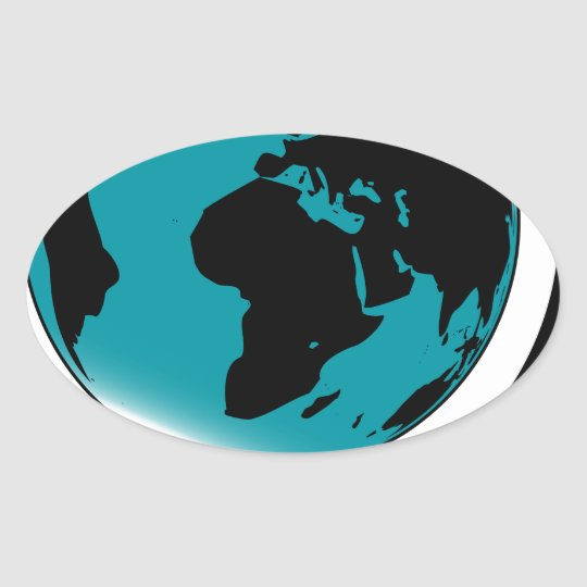 Globo montado no giro de giro adesivo oval