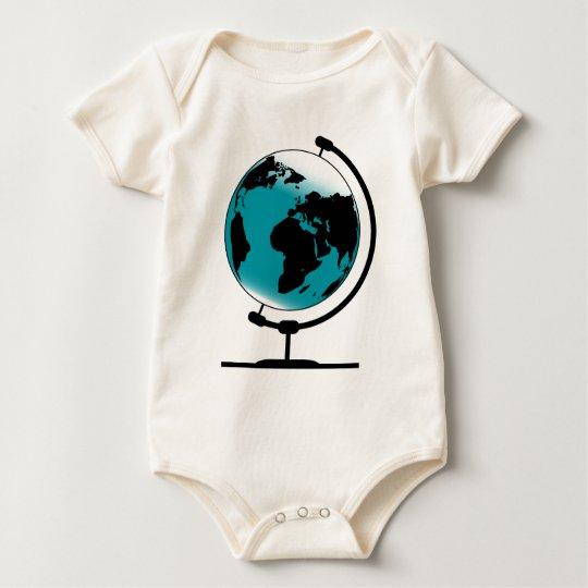 Globo montado no giro de giro body para bebê