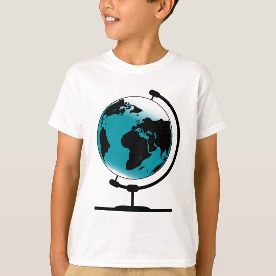 Globo montado no giro de giro camiseta
