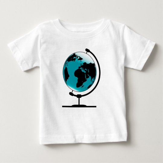Globo montado no giro de giro camiseta para bebê