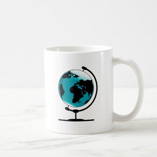 Globo montado no giro de giro caneca de café