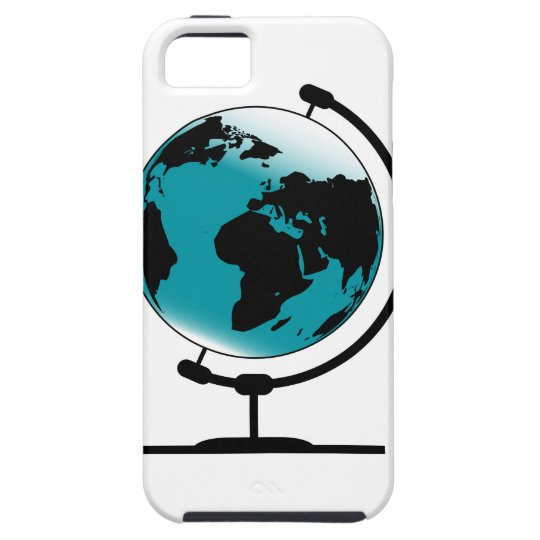 Globo montado no giro de giro capa tough para iPhone 5